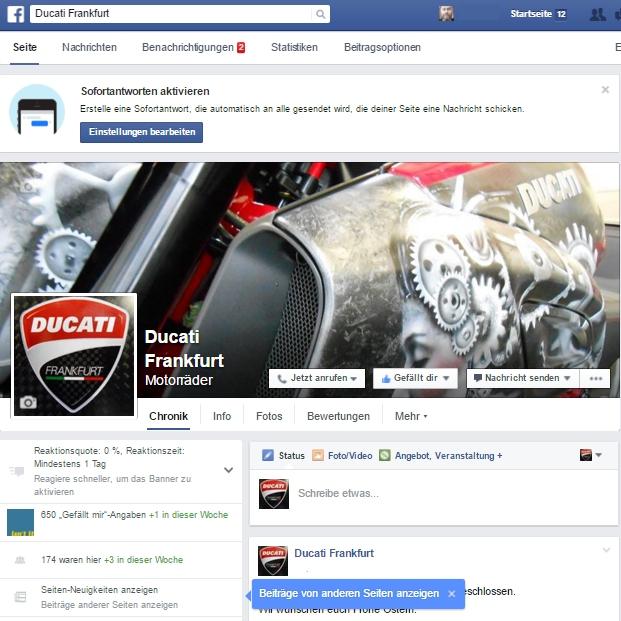 Ducati Frankfurt auf Facebook.