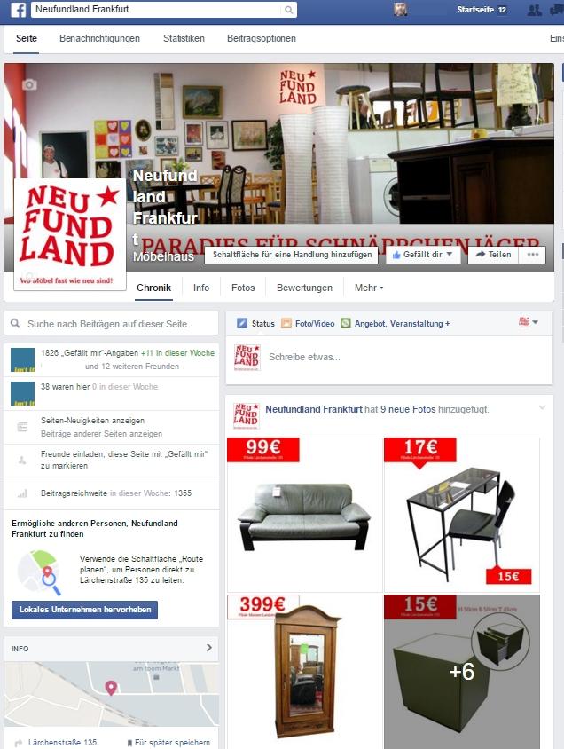 Neufundland Frankfurt auf Facebook.